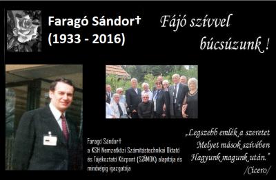 Elhunyt Faragó Sándor - Fájó szívvel búcsúzunk ! POST fedőkép